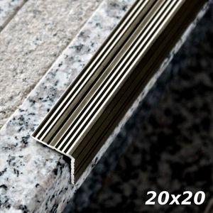 Treppenstufenprofil Aspro 20x20mm Champagner ALU 90cm – Bild 1