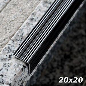 Treppenstufenprofil Aspro 20x20mm Schwarz ALU 90cm – Bild 1