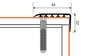 Treppenstufenprofil Myck 45x22mm Silber 2m – Bild 3