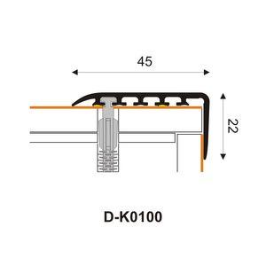 Treppenstufenprofil Myck 45x22mm Kastanie 6E 1m – Bild 3