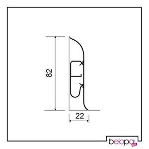 Hohe Fußleiste 82mm! Hohe Sockelleiste PVC Eiche K0 - 2,5m – Bild 4
