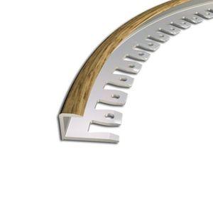 Biegeprofil Zic Zac, 9x10mm, Aluminium, Eiche 15, 2,5m – Bild 1