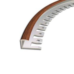 Biegeprofil Zic Zac, 9x10mm, Aluminium, Mahagoni 7E, 2,5m – Bild 1