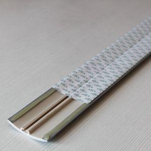 Übergangsprofil Holzoptik 42mm Myck PVC Silber 01, 1m – Bild 4