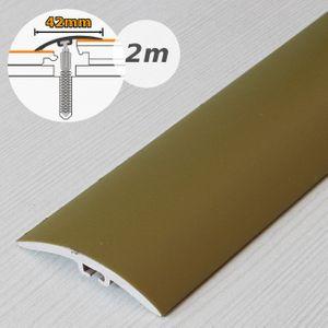 Übergangsprofil Holzoptik 42mm Myck PVC Gold 03, 2m – Bild 1