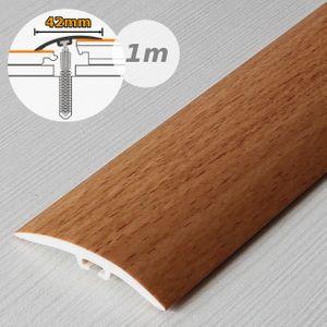 Übergangsprofil Holzoptik 42mm Myck PVC Buche 1E, 1m – Bild 1