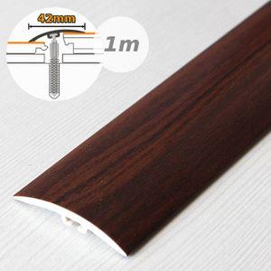 Übergangsprofil Holzoptik 42mm Myck PVC Mahagoni 7E 1m – Bild 1