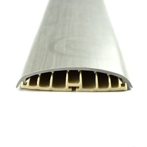 Leitungsführungskanal Kabelkanal selbstklebend, 74mm, PVC, Metallic 62, 2m – Bild 1