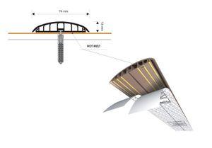 Leitungsführungskanal Kabelkanal selbstklebend, 74mm, PVC, Erle F4, 1m – Bild 7