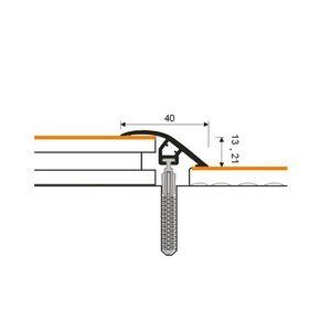 Höhenausgleichsprofil Myck, 40mm, PVC, Kastanie 6E, 1m – Bild 4