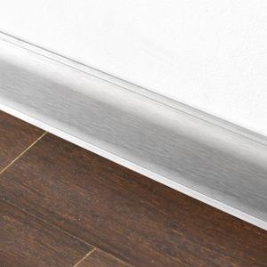 Aluminium Sockelleiste Aspro 54Z Silber A0, 2,5m – Bild 2