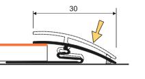 Anpassungsprofil 30mm (Knick Montage), Aspro, Aluminium, Gold 03, 180cm – Bild 2