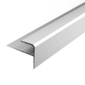 Treppenstufenprofil F Borck, 16x23x8mm, Aluminium, Silber 01, 1,8m – Bild 1