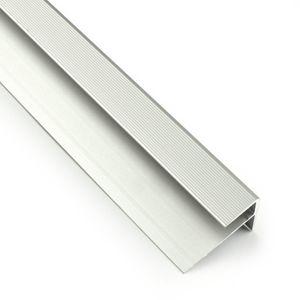 Treppenstufenprofil F Borck, 16x23x8mm, Aluminium, Silber 01, 1,8m – Bild 2