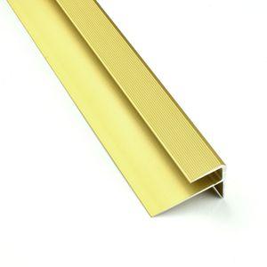 Treppenstufenprofil F Borck, 16x23x8mm, Aluminium, Gold 03, 1,8m – Bild 2