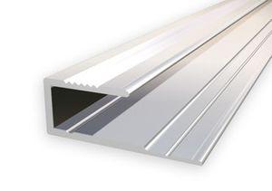 Einfassprofil Borck, 16x8mm, Aluminium, Silber 01, 1,8m – Bild 1