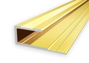Einfassprofil Borck, 16x8mm, Aluminium, Gold 03, 0,9m – Bild 1
