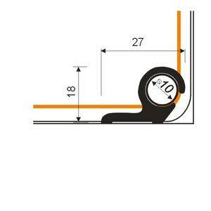 Treppenläuferstangen (Set) Borck, 10mm, Aluminium, Silber 01, 0,9m – Bild 2
