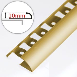 Winkelabschlussprofil Aspro - Gold Alu 10mm 250cm  – Bild 1
