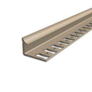 Inneneckprofil für Wandabschlüsse Aspro, 8mm, Beige L5, 2,5m – Bild 1