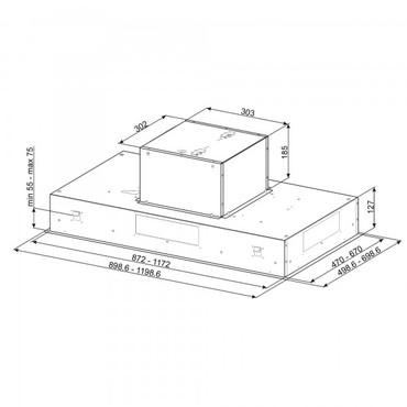 KSEG90VXNE, Einbau-Deckenlüfter, EEK-B, Edelstahl, 90cm – Bild 2
