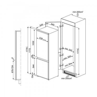 C7280NLD2P, Einbau-Kühlschrank, EEK-A++, No-Frost – Bild 3