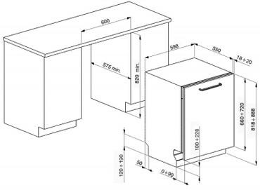 STA6443-3, Geschirrspüler, vollintegrierbar, EEK-A+++ A, 60 cm, 10 Spülprogramme – Bild 3