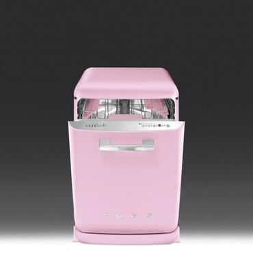 BLV2RO-2, Standgeschirrspüler, EEK-A+++, 50er Jahre Design Pink, 60 cm – Bild 3