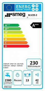 BLV2R-2, Standgeschirrspüler, EEK-A+++, 50er Jahre Design Rot, 60 cm – Bild 5