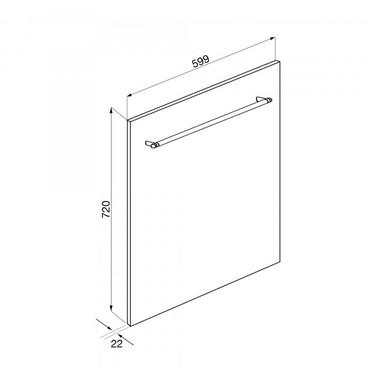 KIT6CX, Frontpaneele, Edelstahl Brillante, 60 cm Höhe 72 cm, Classici Design – Bild 3
