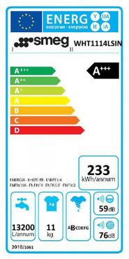 WHT1114LSIN, Waschvollautom., EEK-A+++ / B, Frontl., weiss, 11kg 16Prog. – Bild 4