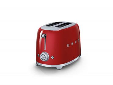 50's Retro Style, Toaster, 2 Scheiben, Rot, 6 Röstgradstufen, 3 Automatikprogramme, 950 W – Bild 3