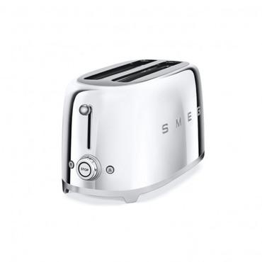 50's Retro Style, Toaster, 4-Scheiben, Chrom, 6 Röstgradstufen, 3 Automatikprogramme, 1500 W – Bild 2