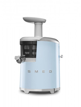50's Retro Style, Slow Juicer - Entsafter, Pastellblau, 43 U/min. für schonendes Entsaften, 500 ml Saft-Auffangbehälter, umfangreiches Zubehör, 150 W – Bild 1