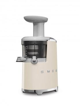 50's Retro Style, Slow Juicer - Entsafter, Creme, 43 U/min. für schonendes Entsaften, 500 ml Saft-Auffangbehälter, umfangreiches Zubehör, 150 W – Bild 2