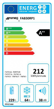 FAB30LPG3, Standkühl-Gefrierkombination, A++, Pastellgrün, 298 L, Linksanschlag – Bild 2