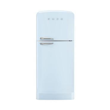 Smeg FAB50RPB Standkühl-Gefrierkombination, Pastellblau, 80 cm, FULL-NO FROST, EEK A++  – Bild 1
