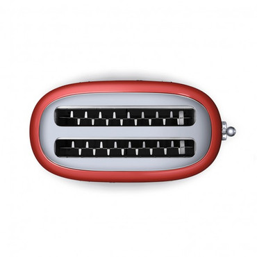 TSF02RDEU, Toaster, 4 Scheiben, Rot, 50er Jahre Design – Bild 4