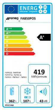 FAB50POS, Standkühl-Gefrierkombination, A+, Creme / Messing Antik, 362 L, Linksanschlag, No Frost  – Bild 2