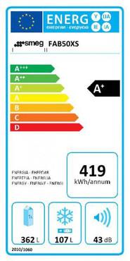 FAB50XS, Standkühl-Gefrierkombination, A+, Polarsilber Metallic, 362 L, Linksanschlag, No Frost – Bild 2