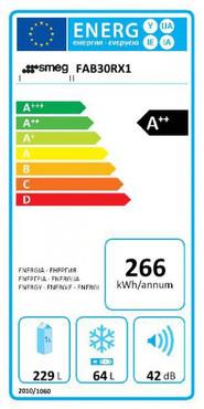 50`s RETRO STYLE STAND – KÜHL-/GEFRIERKOMBINATION, 60CM, TÜRANSCHLAG RECHTS, METALLIC SILBER, DYNAMISCHE UMLUFTKÜHLUNG, ENERGIEEFFIZIENZKLASSE A++ – Bild 2