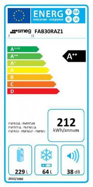 50`s RETRO STYLE STAND – KÜHL-/GEFRIERKOMBINATION, 60CM, TÜRANSCHLAG RECHTS, PASTELLBLAU, DYNAMISCHE UMLUFTKÜHLUNG, ENERGIEEFFIZIENZKLASSE A++ – Bild 2