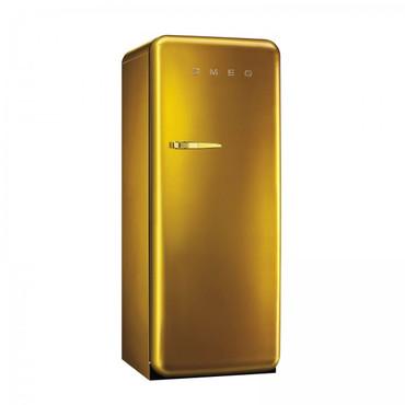 FAB28RDG, Stand-Kühlschrank mit Gefrierfach, A++, GOLD, 222 L, Rechtsanschlag
