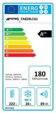 FAB28LCG1, Stand-Kühlschrank mit Gefrierfach, A++, Chocolate Dream, 222 L, Linksanschlag – Bild 2