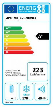 CVB20RNE1, Standgefrierschrank, A+, Schwarz, 170 L, Rechtsanschlag – Bild 2