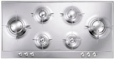 PD106ES, Gaskochfeld Edelstahl poliert sechsflammig 100 cm Piano Design – Bild 1