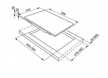 PD64ES, Gaskochfeld Edelstahl vierflammig 60 cm Piano Design – Bild 2