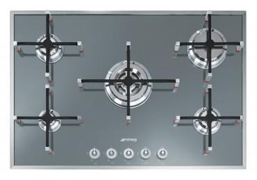 PVS750D, Gas-Glaskeramikkochfeld Silberglas fünfflammig 74 cm Linea Design  – Bild 1