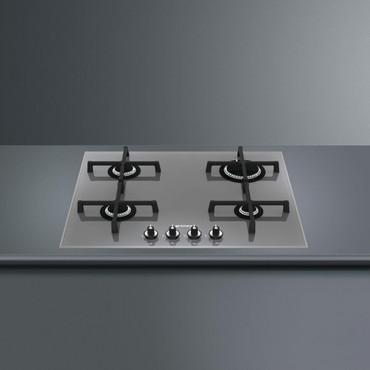 PV164SD, Gaskochfeld Edelstahl vierflammig 60 cm Linea Design  – Bild 2