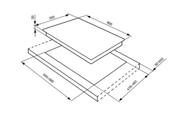 SR764PXD, Gaskochfeld Creme vierflammig 60 cm Cortina Design  – Bild 3